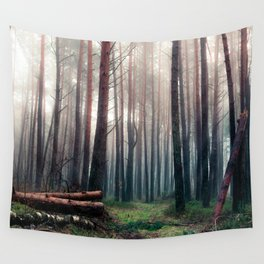Foggy Woods Wall Tapestry