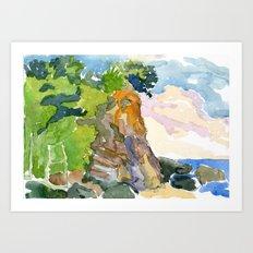 Cliff, Caruao Venezuela Art Print
