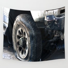 Flat Tire! Wall Tapestry