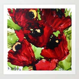 Poppy Party Art Print