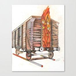 Death Traing Canvas Print