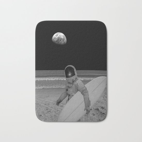 Moon surfer Bath Mat