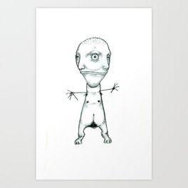imaginary friends Art Print