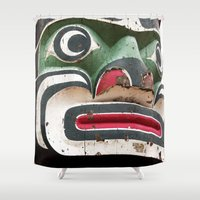 totem Shower Curtains featuring Totem by Renee Ansell
