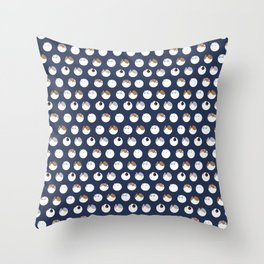 Poke a Dots in Cats Throw Pillow