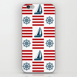 Nautical pattern iPhone Skin