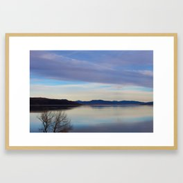 Blue Lake Reflection Framed Art Print