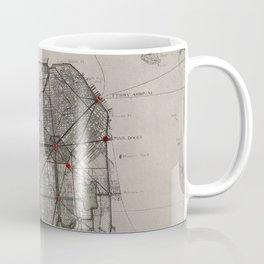 Vintage Map of San Francisco CA (1905) Coffee Mug