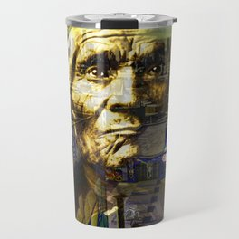 Ghost Tribe Native Americans in New York Yellow Travel Mug