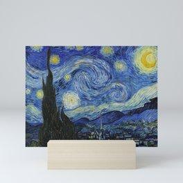 Starry Night by Vincent van Gogh Mini Art Print