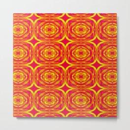 Red, Orange and Yellow Stars 7362 Metal Print