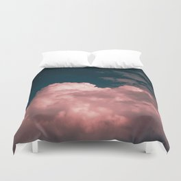 Pink night clouds Duvet Cover