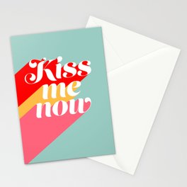 Kiss me now Stationery Cards