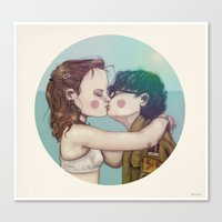 moonrise kingdom Canvas Prints featuring Moonrise Kingdom by Maripili
