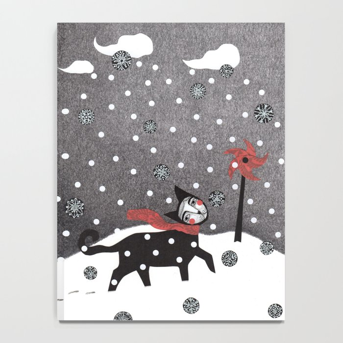 Snow Cat Notebook