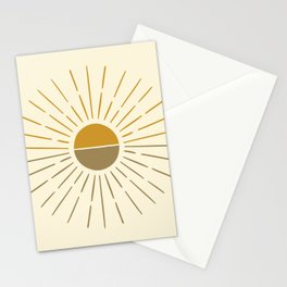 Abstract Geometric 8 (Beautiful sunny day) Stationery Cards