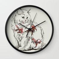 huebucket Wall Clocks featuring Fish Tank by Huebucket