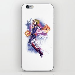 life is tough but so are you iPhone Skin