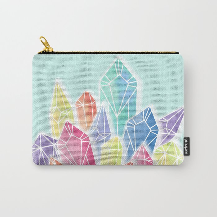 Crystals Green Carry-All Pouch