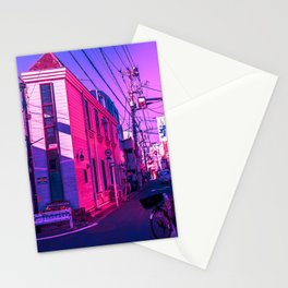 Tokyo During Pink Hour  Stationery Cards
