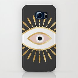 gold foil evil eye in blush iPhone Case