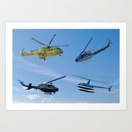 Four Choppers Art Print