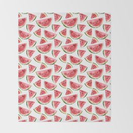 Watercolor watermelon Throw Blanket