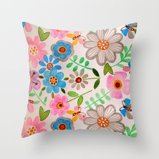 The Garden 2 Throw Pillow