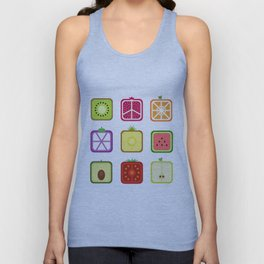 Squared Fruits Unisex Tank Top
