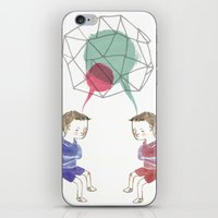 twins iPhone & iPod Skins featuring Twins by Valentina Gruer