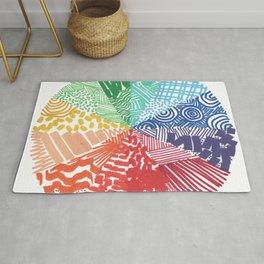 Line Design Colorwheel Rug