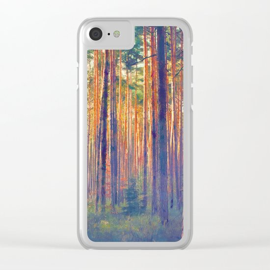 Forest - Filtering light Clear iPhone Case