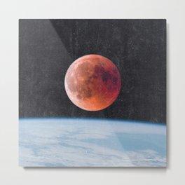 Blood Moon Over Earth Metal Print