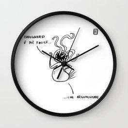 Mostro Brutto indignato Wall Clock