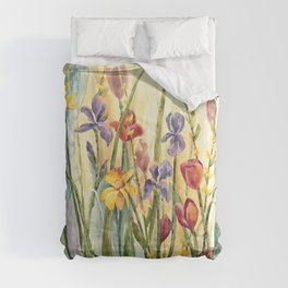 Spring Medley Flowers Comforters