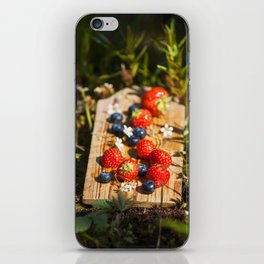 Summer berries iPhone Skin