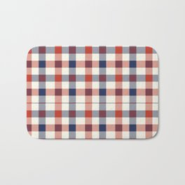 Plaid Red White And Blue Lumberjack Flannel Design Badematte