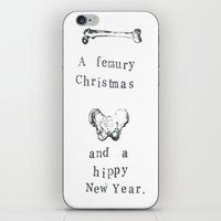 atheist iPhone & iPod Skins featuring A Femury Christmas And A Hippy New Year by Blue Specs Studio