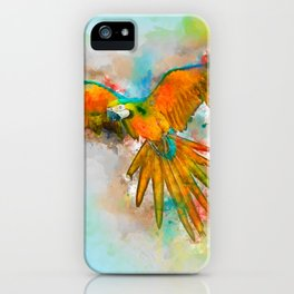 High as a Macaw iPhone Case