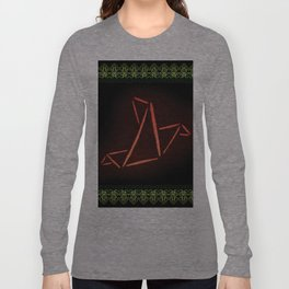 Origami Bird Long Sleeve T-shirt