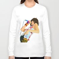 karen hallion Long Sleeve T-shirts featuring Karen O-h mah lord  by Tropidarks