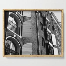 Window Shutter Textures Serving Tray
