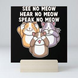 Three Wise Cats Mini Art Print