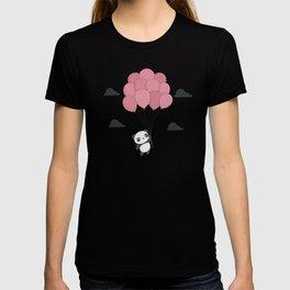 Kawaii Panda In The Sky T-shirt