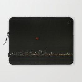 Smokey Moon over Seattle Laptop Sleeve