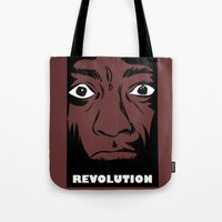 political Tote Bags featuring political revolution, fight for your rights by gran mike