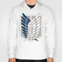 shingeki no kyojin Hoodies featuring Wings of Freedom (Shingeki no Kyojin) by DPain