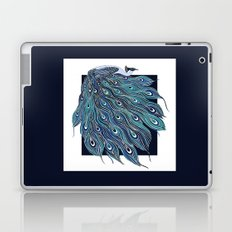 Nouveau Peacock in Blue Laptop & iPad Skin