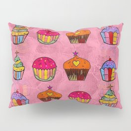 Cupcake Popart by Nico Bielow Pillow Sham