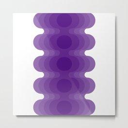 Violet Echoes Metal Print